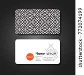 business card front and back... | Shutterstock .eps vector #772074199