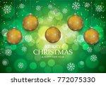 christmas light vector... | Shutterstock .eps vector #772075330