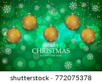 christmas light vector... | Shutterstock .eps vector #772075378