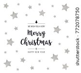 christmas greeting card... | Shutterstock .eps vector #772078750