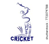 illustration of cricket batman | Shutterstock .eps vector #772079788