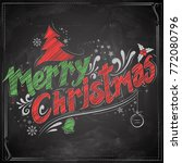 illustration of merry christmas ...   Shutterstock .eps vector #772080796