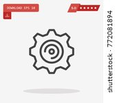 outline gear icon isolated on...