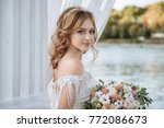 Beautiful Bride With Wedding...