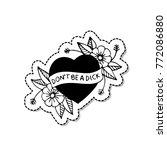 heart traditional tattoo flash   Shutterstock .eps vector #772086880