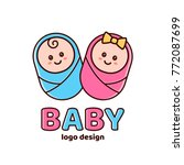 boy and girl.baby shower... | Shutterstock .eps vector #772087699