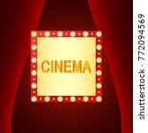 cinematography concept. cinema... | Shutterstock .eps vector #772094569