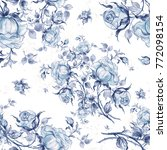 seamless pattern of vintage... | Shutterstock . vector #772098154