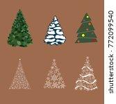 christmas tree winter...   Shutterstock .eps vector #772099540