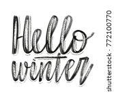 hello winter.vector hand drawn... | Shutterstock .eps vector #772100770