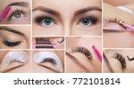 eyelash removal procedure close ... | Shutterstock . vector #772101814