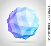 abstract 3d origami sphere... | Shutterstock .eps vector #77210236