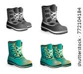 winter boots realistic... | Shutterstock .eps vector #772104184