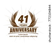 41 years design template.... | Shutterstock .eps vector #772104844