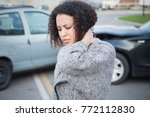 injured woman feeling bad after ... | Shutterstock . vector #772112830