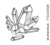 crystals druse isolated on...   Shutterstock .eps vector #772115320