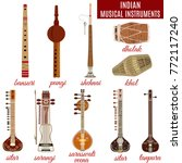 vector set of indian musical... | Shutterstock .eps vector #772117240