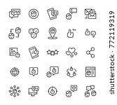 set icon of social networks in... | Shutterstock . vector #772119319