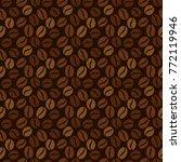 coffee beans seamless... | Shutterstock .eps vector #772119946