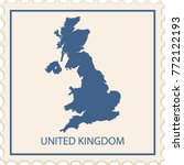 united kingdom map stamp vector | Shutterstock .eps vector #772122193