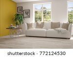 idea of white room with sofa... | Shutterstock . vector #772124530