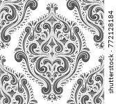 black and white ornamental...   Shutterstock .eps vector #772128184