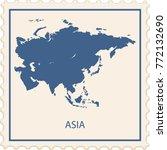 asia map stamp vector | Shutterstock .eps vector #772132690