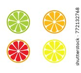 vector set of lemon  orange ... | Shutterstock .eps vector #772132768