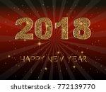 happy new year 2018. vector... | Shutterstock .eps vector #772139770