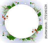 vector christmas banners with... | Shutterstock .eps vector #772140124