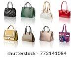 handbags collection on... | Shutterstock . vector #772141084