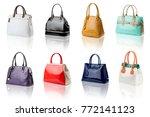 handbags collection on... | Shutterstock . vector #772141123