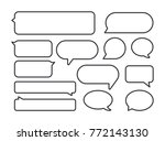 speech bubbles. vector  icon.... | Shutterstock .eps vector #772143130