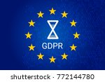 gdpr   general data protection... | Shutterstock .eps vector #772144780