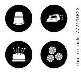 tailoring glyph icons set.... | Shutterstock .eps vector #772146823