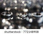 three wedding rings on the... | Shutterstock . vector #772148908