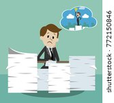 business man working and... | Shutterstock .eps vector #772150846