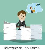 business man working and... | Shutterstock .eps vector #772150900