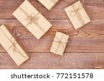 homemade wrapped wedding ... | Shutterstock . vector #772151578