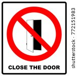 close the door sign. keep this... | Shutterstock .eps vector #772151983