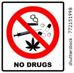 no drugs allowed. no capsule ... | Shutterstock .eps vector #772151998