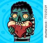 zombie loves you | Shutterstock .eps vector #77215219