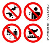 no pooping and peeing people... | Shutterstock .eps vector #772152460
