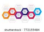 business infographics. timeline ... | Shutterstock .eps vector #772155484