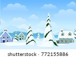vector horizontal landscape...   Shutterstock .eps vector #772155886