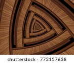 Isolated On Black Brown Walnut...