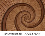 brown red real walnut wooden... | Shutterstock . vector #772157644