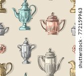 Seamless Pattern With Antique...
