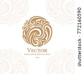 vector emblem. can be used for... | Shutterstock .eps vector #772160590