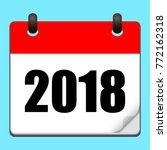 calendar icon 2018. happy new...